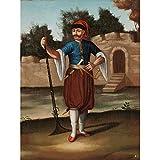 Jean Baptiste Vanmour Albanian Soldier Painting Art Print Canvas Premium Wall Decor Poster Mural Albanien Soldat Gemälde Wand Deko