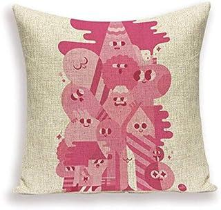 JPDP Eleganta kuddöverdrag färgglada örngott rosa glass klubba mönster kuddar heminredning sängstol linne kudde 45 x 45 cm...