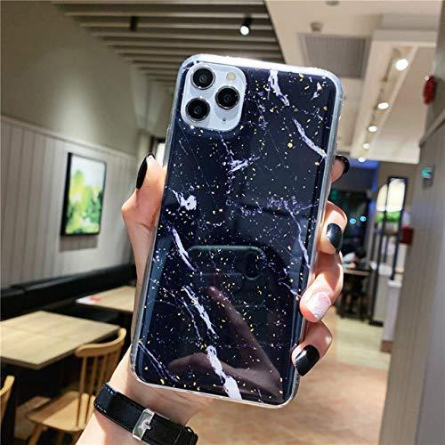 Caja del teléfono para iPhone 11 6 6s 7 8 Plus X XR XS MAX Luxury Gold Foil Marble Glitter Soft TPU para iPhone 11 Pro MAX, AC8795, para iPhone XR
