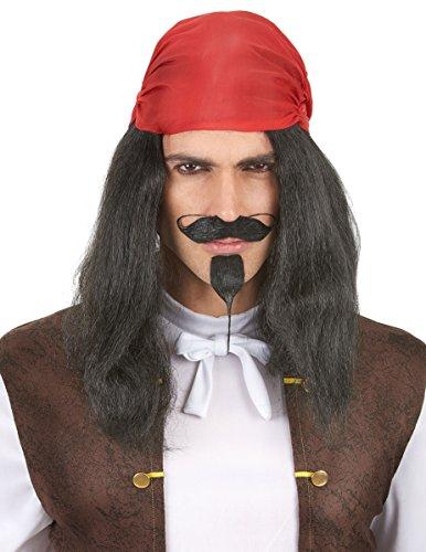 DEGUISE TOI - Perruque Pirate avec Bandana Adulte - Taille Unique