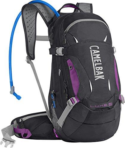 CAMELBAK Luxe LR Mochila de Hidratación, Mujer, Rosa (Charcoal/Light Purple), Talla Única