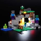 BRIKSMAX Kit de Iluminación Led para Lego Minecraft La Cueva de los Zombis-Compatible con Ladrillos de Construcción Lego Modelo 21141, Juego de Legos no Incluido