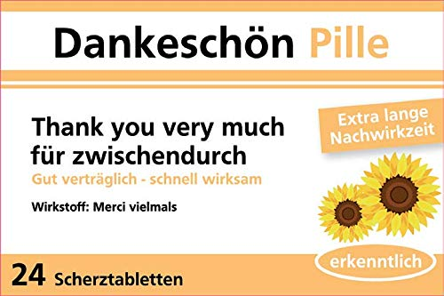 yvolve Dankeschön Pille - Scherztabletten - 24 Tabletten - 22g Schokolinsen