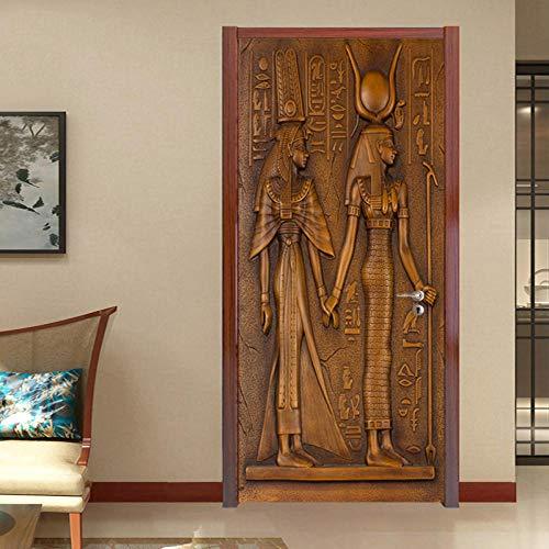 HAJYCFR 3D Mural Autoadhesivo Escultura 90X200Cm Vinilo Autoadhesivo Extraíble Para El Dormitorio Sala De Estar Oficina Decoración De Pared De Arte
