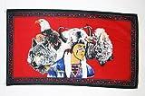 AZ FLAG Flagge Indianer MIT Wolf 150x90cm - Indianer Fahne 90 x 150 cm - flaggen Top Qualität
