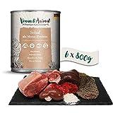 Venandi Animal Premium Nassfutter für Katzen, Schaf als Monoprotein 6 x 800 g, getreidefrei und naturbelassen, 4.8 kg