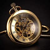 J-Love Reloj de Bolsillo Retro Simple Reloj de Bolsillo mecánico Cartera Romana Estudiantes Masculinos y Femeninos Mesa de Regalo Creativa de Alta Gama