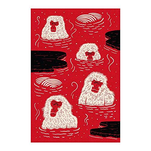 Moooi Carpets Indigo Macaque Red Teppich, rot, weiß, schwarz LxB 300x200cm