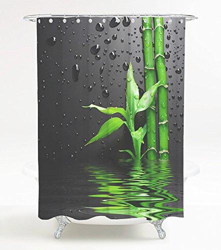 Sanilo Duschvorhang Virella 180 x 200 cm, hochwertige Qualität, 100prozent Polyester, wasserdicht, Anti-Schimmel-Effekt, inkl. 12 Duschvorhangringe
