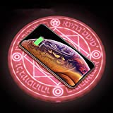 LNLN Magic Array Wireless-LadegeräT, Zwei-Element-Ladestation, 10 W-Schnellladung, Mit So&effekten, Geeignet FüR Alle Smartphones, Die Qi Wireless Charging UnterstüTzen,pink