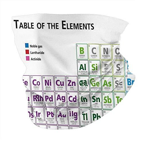 Q&SZ Sweatshirt Outdoor Headband Science Chemistry Primary School Students Geek Nerd Lessons Classes Smart Kids Art Print Multicolor Scarf Neck Gaiter Face Bandana Scarf Head Scarf