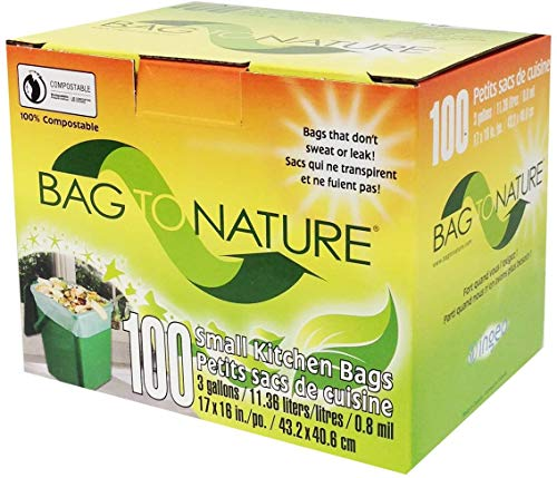 Bag-To-Nature Compostable Bag And Liner (3 gallon, 100 Count)