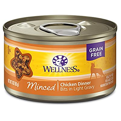 Wellness Natural Pet Food Complete Health Minced Grain Free Canned Cat Food, Chicken Dinner, 3 Ounces (Pack of 24)