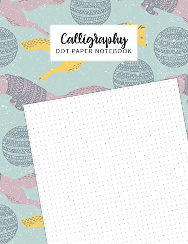 Calligraphy Dot Paper Notebook: Dotted Grid Page