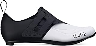 Fizik Men's Transiro Powerstrap R4 Triathlon Cycling Shoes - Black/White
