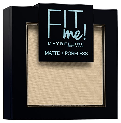 Maybelline New York Fit Me Matte&Poreless Cipria Opacizzante e Fissante, Pennello e Specchietto Inclusi, 105 Natural