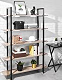 Bookshelf 4 Tier 41Wx12Dx55H inches Bookcase Solid 130lbs Load Capacity Industrial Bookshelf, Sturdy Bookshelves with Steel Frame, Storage Organizer Home Office Shelf (White)