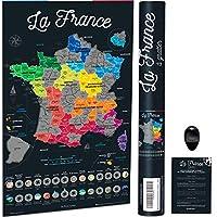 🐓 GRATTEZ LA FRANCE - La seule carte à gratter de la France, avec ses régions, ses départements, ses villes et même les DOM-TOM ! Soyez original, distinguez-vous de la classique carte à gratter du monde, et (re)découvrez la France ! 🍲 14 SPÉCIALITÉS ...