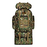 WintMing Camping Hiking Backpack Expandable 70L/100L Molle Rucksack Waterproof Traveling Daypack (upgrade-100L-Camo-C)