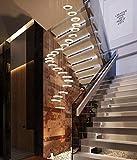 N / A Lámpara de suspensión lámpara de araña del Techo LED Redonda Hueco de la Escalera contemporáneos suspensiones Ajustables lámpara Pendiente de la lámpara Sala de Altura Creativa de Estar d.