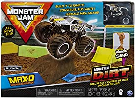 Monster Jam, Max D Monster Dirt Deluxe Set, Featuring 16oz of Monster Dirt and Official 1:64 Scale Die-Cast Monster Jam...