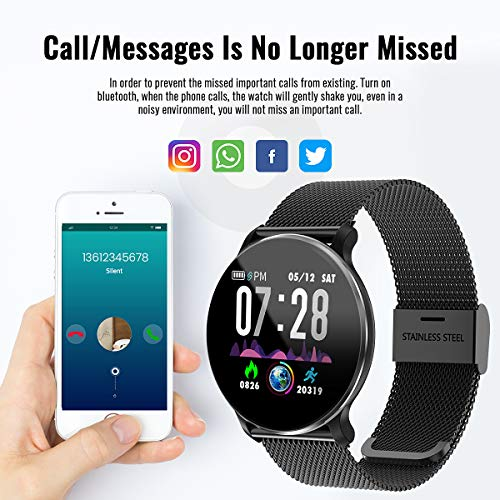 TagoBee TB11 IP68 wasserdichte SmartWatch HD Touchscreen Fitness Tracker Unterstützung Blutdruck Herzfrequenz Schlafüberwachung Schrittzähler kompatibel mit Android und IOS