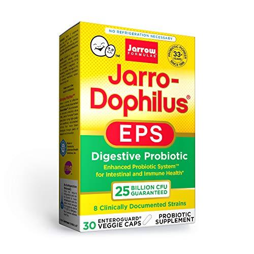 Jarrow Formulas Jarro-Dophilus EPS Higher Potency - 25 Billion Organisms Per Serving - 30 Veggie Caps - Multi-Strain Probiotic - Intestinal & Immune Health - 30 Servings