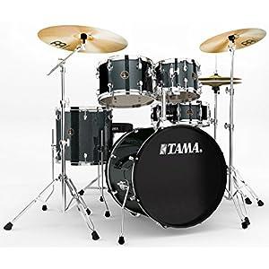 Tama Rhythm Mate Stile Giocattolo Set (5pezzi) con 50,8cm (20pollici) BASS DRUM incluso dreiteiligem Set di piatti/6pezzi hardware, Black – Charcoal Mist