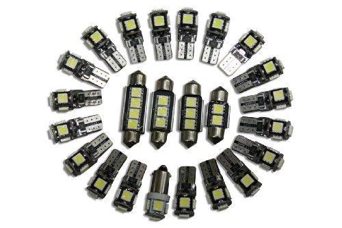 LED-Mafia 1334AC 147 7 Canbus LED D'Éclairage Intérieur Vendu -2X Éclairage Avant -1X Éclairage De La Boîte À Gants -1X Éclairage Intérieur Derrière La Porte Réflecteurs -2X Éclairage Du Tronc -1X Blanc