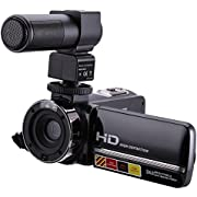 """Camking HDV-301M HD 1080P 24MP 16X Digital Zoom Video Camera with Microphone and 3.0"""" LCD 270 Degree Screen"""