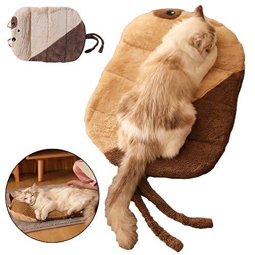ZWW Matras voor dieren, sofakussen voor honden, diepe slaap, aan beide zijden, universeel, vier seizoenen, rotanmat, met kussen