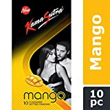 KamaSutra Mango Flavoured Condoms for Men   Tempting Flavour with Dotted Texture   Made with Natural Rubber Latex   Lubricated Condoms   Excite/Flavour Series   10 Mango Dotted Condoms