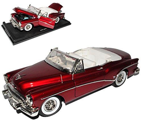 Motormax Bui-ck Skylark Roadmaster Cabrio Rot Metallic 1. Generation 1953-1954 1/18 Modell Auto