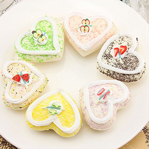 Nice purchase 6Color Realistic Artificial Cake Dessert Assorted Mixed Fake Cake Model Home Staging Equipment Crafts Photography Props Home Decoration Heart Shape