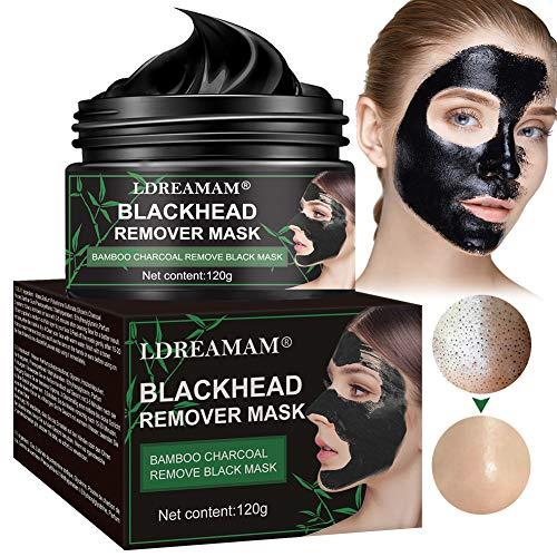 Maschera nera, Black Mask,Maschere Comedone,Black Mask Peel Off,rimuove punti neri pulizia profonda Peel Off Maschera Carbone di bambù Maschera di fango,Shrinking Pores