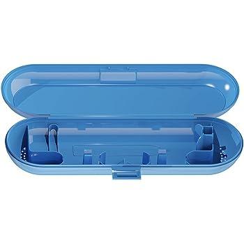 shyymaoyi - Estuche de viaje para guardar el cepillo de dientes eléctrico Oral-B, estuche portátil en colores lisos, azul: Amazon.es: Jardín