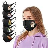 5 Stück Baumwolle Mundschutz Kinder Cartoon Druck,Schmetterling Mundschutz,Verstellbarer Hängendes Ohr StaubschutZ,Waschbar Atmungsaktive Halstuch für Jungen und Mädchen