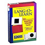 Stages Learning Materials Lang-O-Learn ESL Shapes & Colors Vocabulary Photo Cards Flashcar...