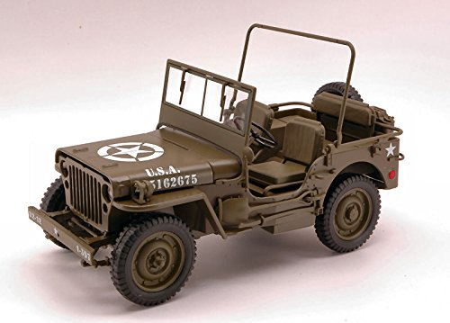 JEEP WILLYS 1/4 TON US ARMY TRUCK 1:18 - Mezzi Militari - Welly - Die Cast - Modellino