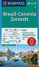 Carta escursionistica n. 87. Breuil-Cervinia, Zermatt 1:50.000. Ediz. multilingue