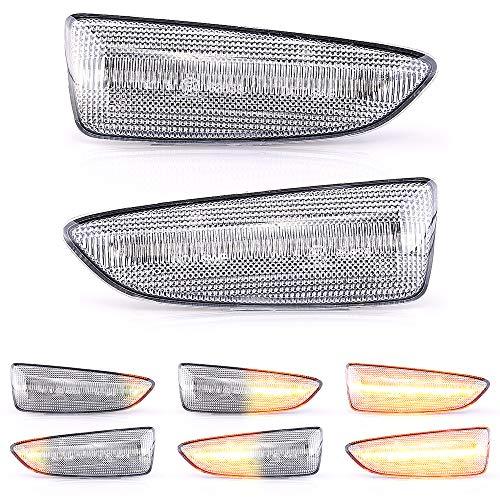 2 x LED Blinker Seitenblinker Blinkleuchte Dynamisch Laufblinker mit E-Prüfzeichen White Vision V-171903LG