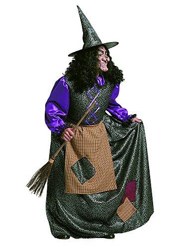 Stamco Costume da Vecchia BEFANA - Costumi di Carnevale Halloween Strega Maga megera arpia fattucchiera per Donna o Uomo Adulti Taglia Unica