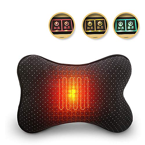 Lzour Neck and Back Shiatsu Massage Pillow with Massage Heating-2 Button Control Knee Massager Alleviates Muscle Pain and Home Office Car Fatigue, Best Gift for Parents