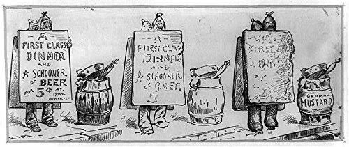 HistoricalFindings Photo: The Evolution of The Sandwich,New York Nuisance,Coney Island,1885,German Mustard