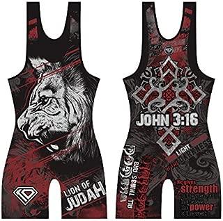 KO Sports Gear Lion of Judah Wrestling Singlet