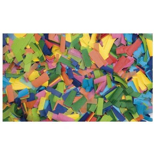 Showtec Show Konfetti Mehrfarbig (rechteckig), 1 kg (schwer entflammbar) 55x17mm