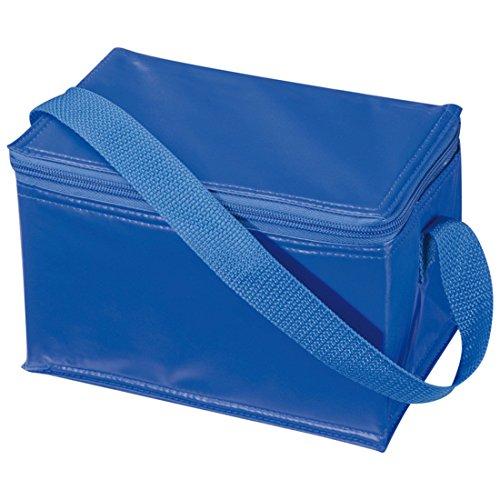 Borsa frigorifera da trasporto, per pranzo o picnic, termoisolante, in tela a strisce small Blue