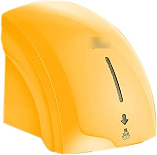 Mini Electric Hand Dryer, Wall Hand Dryers Automatic Hygienic And Very Space-Saving ABS Plastic Tray High Speed,Yellow