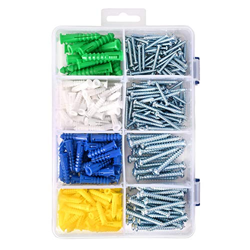 HangDone Wall Anchors Kit 400-Pieces, Assorted Sizes with Screws