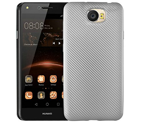 Case for Huawei Y6II Compact LYO-L21/Y6II Compact 4G LYO-L01/Y6 II Compact/Y5II CUN-L33 CUN-L23 CUN-L03/Y5 II CUN-L01 4G Case TPU Silicone Soft Shell Cover Silver